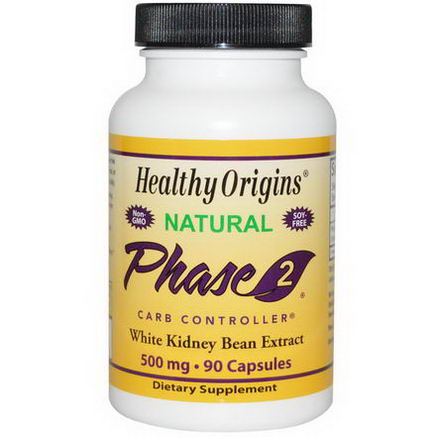 Healthy Origins, Phase 2, Carb Controller, 500mg, 90 Capsules