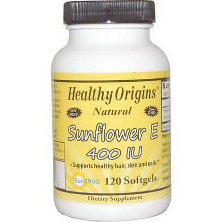 Healthy Origins, Sunflower E, 400 IU, 120 Softgels
