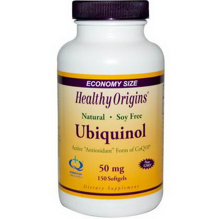 Healthy Origins, Ubiquinol, 50mg, 150 Softgels