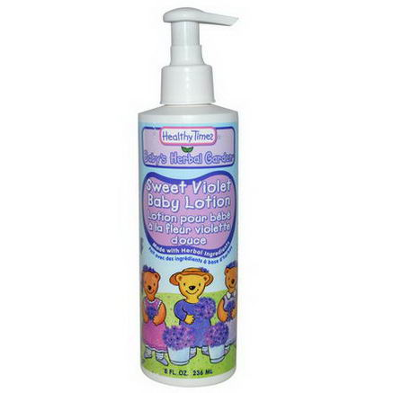 Healthy Times, Baby's Herbal Garden, Baby Lotion, Sweet Violet, 8 fl oz (236 ml)