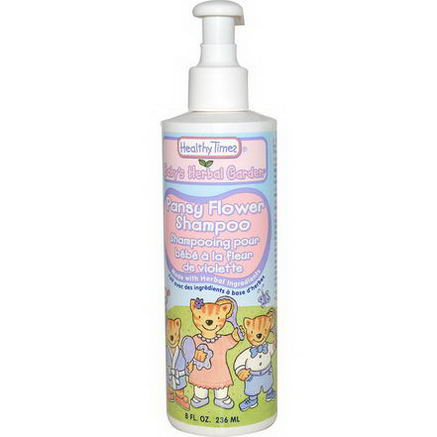 Healthy Times, Baby's Herbal Garden, Shampoo, Pansy Flower, 8 fl oz (236 ml)