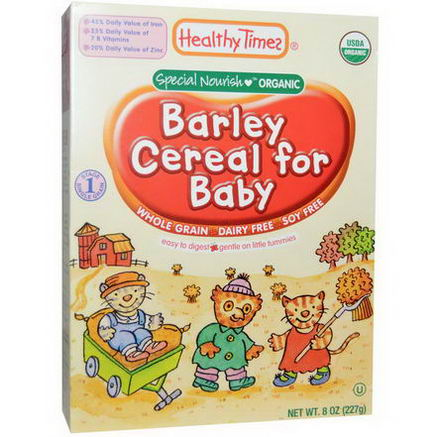 Healthy Times, Barley Cereal for Baby, 8oz (227g)