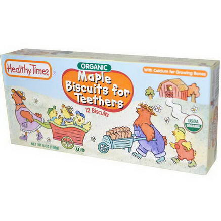 Healthy Times, Maple Biscuits for Teethers, 12 Biscuits, 6oz (168g)