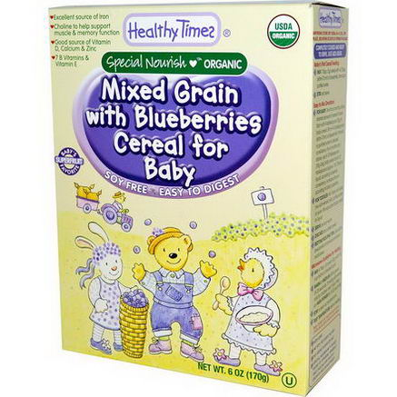Healthy Times, Organic Mixed Grain with Blueberries Cereal for Baby, 6oz (170g)