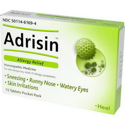 Heel BHI, Adrisin, Allergy Relief, 15 Tablets Pocket Pack