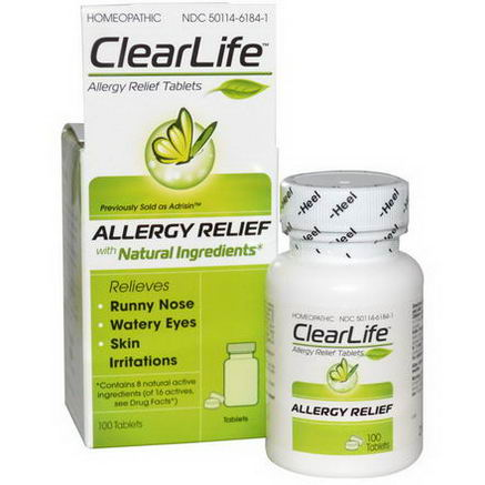 Heel BHI, ClearLife, Allergy Relief Tablets, 100 Tablets