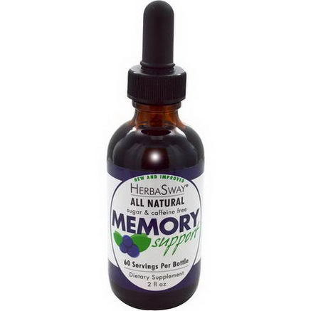 HerbaSway Labs, BlueBerry, All Natural Memory Support, 2 fl oz