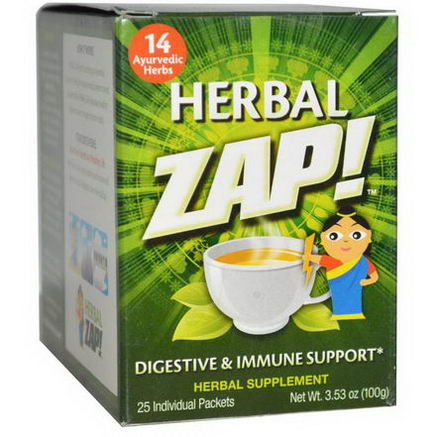 Herbal Zap, Digestive & Immune Support, 25 Packets, 3.53oz (100g)