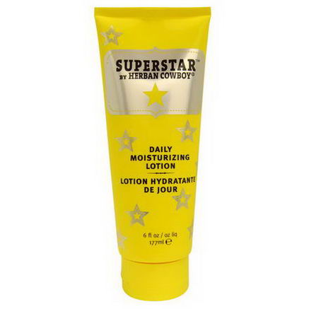 Herban Cowboy, Daily Moisturizing Lotion, Superstar, 6 fl oz (177 ml)