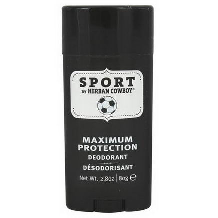 Herban Cowboy, Maximum Protection Deodorant, Sport, 2.8oz (80g)