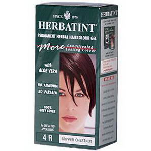 Herbatint, Permanent Herbal Haircolor Gel, 4R, Copper Chestnut, 4.56 fl oz (135 ml)