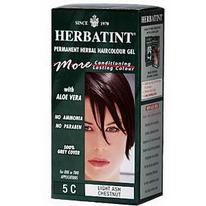 Herbatint, Permanent Herbal Haircolor Gel, 5C Light Ash Chestnut, 4.5 fl oz