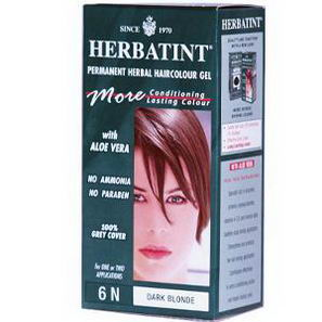 Herbatint, Permanent Herbal Haircolor Gel, 6N, Dark Blonde, 4.56 fl oz (135 ml)