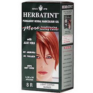 Herbatint, Permanent Herbal Haircolor Gel, 8R, Light Copper Blonde, 4.56 fl oz, (135 ml)