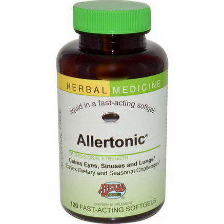 Herbs Etc. Allertonic, Alcohol Free, 120 Fast-Acting Softgels