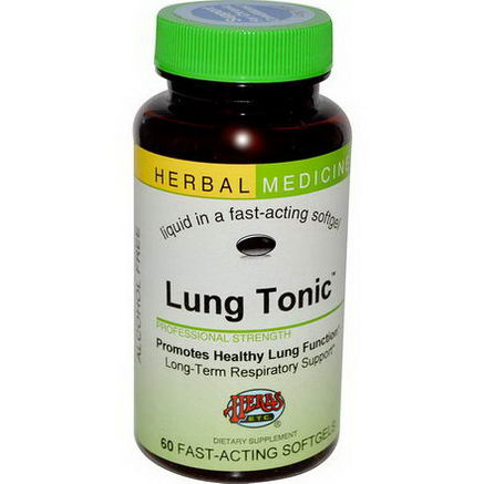 Herbs Etc. Lung Tonic, Alcohol Free, 60 Fast-Acting Softgels