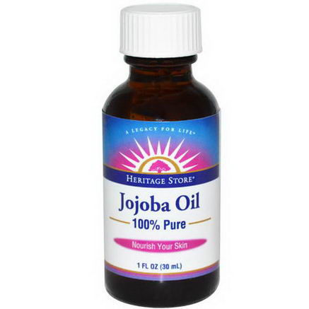 Heritage Products, 100$% Pure Jojoba Oil, 1 fl oz (30 ml)