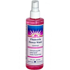 Heritage Products, Flower Water, Plumeria, 8 fl oz (240 ml)