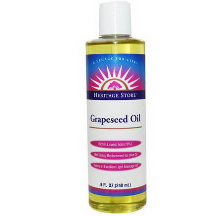 Heritage Products, Grapeseed Oil, 8 fl oz (240 ml)