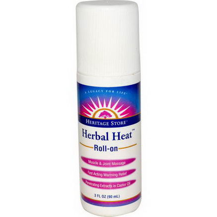 Heritage Products, Herbal Heat, Roll-On, 3 fl oz (90 ml)