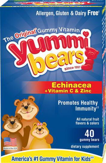 Hero Nutritional Products, Yummi Bears, Echinacea plus Vitamin C & Zinc, 40 Gummy Bears