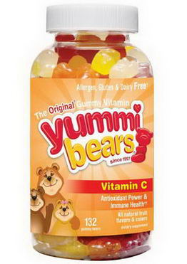 Hero Nutritional Products, Yummi Bears, Vitamin C, 132 Gummy Bears