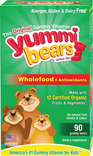Hero Nutritional Products, Yummi Bears, Wholefood + Antioxidants, Natural Fruit Flavors, 90 Gummy Bears