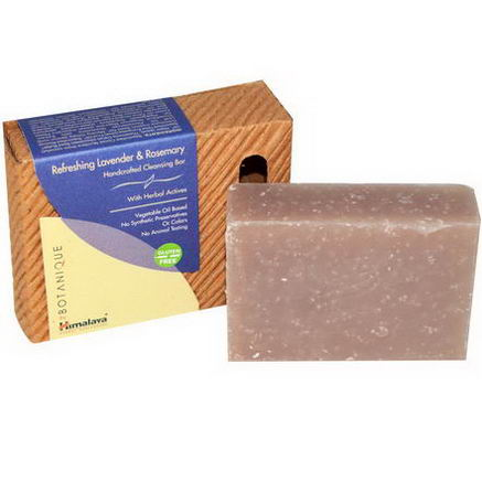 Himalaya Herbal Healthcare, Botanique, Handcrafted Cleansing Bar, Refreshing Lavender & Rosemary, 4.41oz (125g)