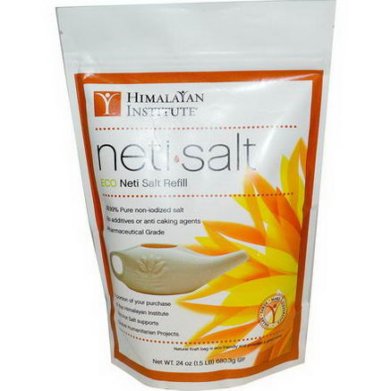 Himalayan Institute, Neti Salt, ECO Neti Salt Refill, 24oz (680.3g)