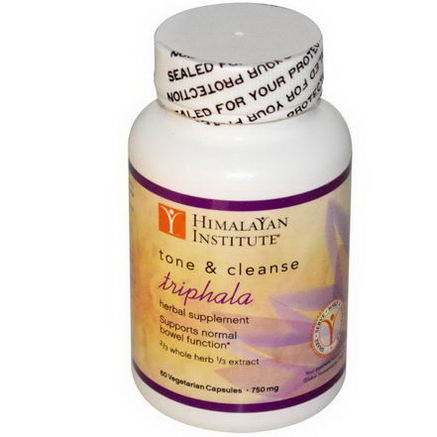 Himalayan Institute, Triphala, Tone & Cleanse, 750mg, 60 Veggie Caps