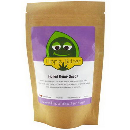 Hippie Butter, Hulled Hemp Seeds, 4oz (113g)