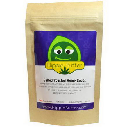 Hippie Butter, Salted Toasted Hemp Seeds, 4oz (113g)