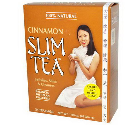 Hobe Labs, Slim Tea, Cinnamon, 24 Tea Bags, 1.69oz (48g)