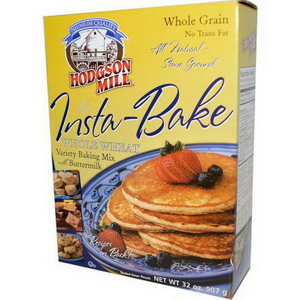 Hodgson Mill, Insta-Bake, Varitery Baking Mix with Buttermilk, Whole Wheat, 32oz (907g)