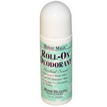 Home Health, Herbal Magic, Roll-On Deodorant, Herbal Scent, 3 fl oz (88 ml)