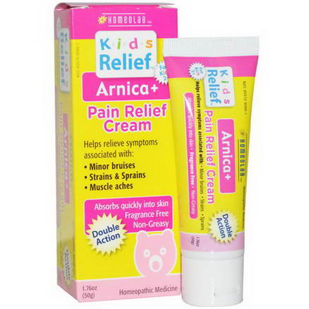 Homeolab USA, Arnica+, Pain Relief Cream, Double Action, 1.76oz (50g)