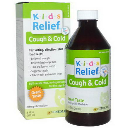 Homeolab USA, Kids Relief, Cough & Cold, 8.5 fl oz (250 ml)