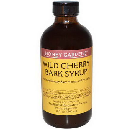 Honey Gardens, Wild Cherry Bark Syrup, 8 fl oz (240 ml)