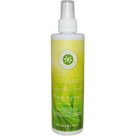 Honeybee Gardens, Alcohol Free Hair Spray, Herbal Mint, 8.5 fl oz (251 ml)