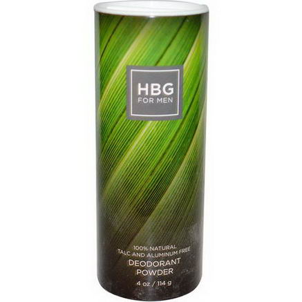 Honeybee Gardens, HBG for Men, Deodorant Powder, Unscented, 4oz (114g)