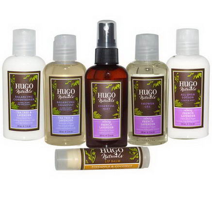 Hugo & Debra Naturals, French Lavender Travel Kit, 6 Piece Kit