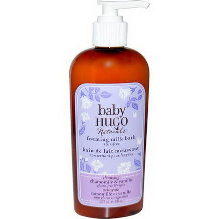 Hugo & Debra Naturals, Baby, Foaming Milk Bath, Chamomile & Vanilla, 8 fl oz (237 ml)