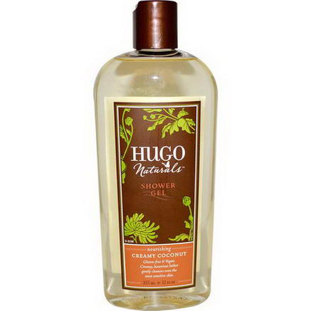 Hugo & Debra Naturals, Shower Gel, Creamy Coconut, 12 fl oz (355 ml)