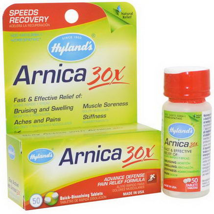 Hyland's, Arnica 30X, 50 Quick-Dissolving Tablets