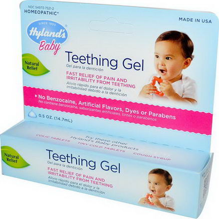 Hyland's, Baby, Teething Gel, 0.5oz (14.7 ml)