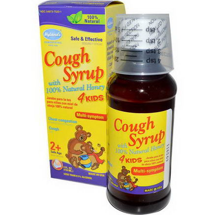 Hyland's, Cough Syrup, 4 Kids, with 100% Natural Honey, 4 fl oz (118 ml)