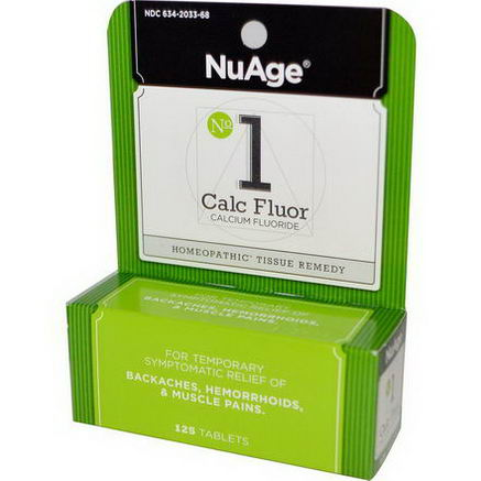 Hyland's, NuAge, No 1 Calc Fluor (Calcium Fluoride), 125 Tablets