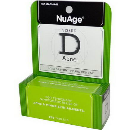 Hyland's, NuAge, Tissue D Acne, 125 Tablets