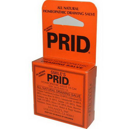 Hyland's, Smile's Prid Homeopathic Drawing Salve, 18g