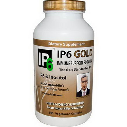 IP-6 International, IP6 Gold, Immune Support Formula, 240 Veggie Caps